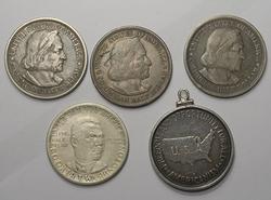 5 US Commemerotive Silver Halves