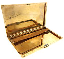 Vintage Yellow Gold Cigarette Case