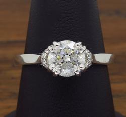 14K White Gold 1.10CTW Diamond Ring