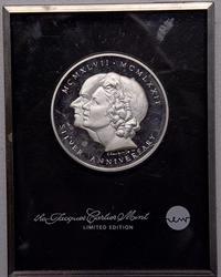 Sterling Proof  Silver Anniversary Medal Elizabeth &Philip
