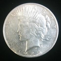 1925 Peace Dollar Mint Error Clipped Planchet