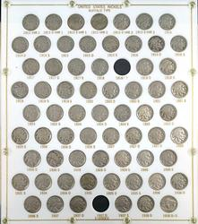 Complete Circulated Buffal Nickel Set 67pc