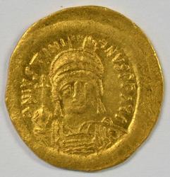 Gorgeous near Mint Justinian I Byzantine Gold Solidus