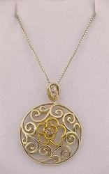 Sterling Silver and 14kt Gold Necklace