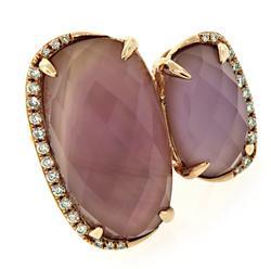 Amethyst & Diamond Rose Gold Ring