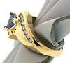 Tempting Trillion Cut Tanzanite & Diamond Ring