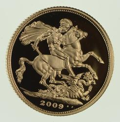 2009 Great Britain 1 Gold Sovereign Proof Coin w/ Box & COA