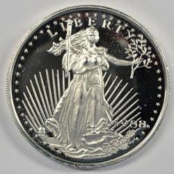 Prooflike .999 Fine Silver 2 Troy Oz. St. Gaudens Round