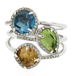 Fun Multi Gemstone & Diamond Ring