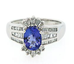 Statement Piece Tanzanite and Multi Diamond Ring