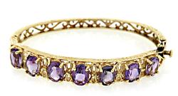 Striking Vintage Amethyst Bangle Bracelet