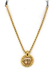 Christian Dior Monogram Pendant Necklace