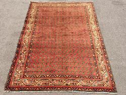Captivating Mid Century Authentic Handmade Fine Vintage Persian Senneh