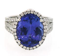 Heirloom Tanzanite & Diamond Ring in 18K