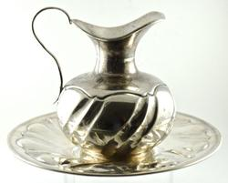 Silver Pitcher and Tray
