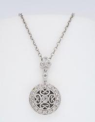 Gabriel & Company Vintage Inspired Diamond Necklace