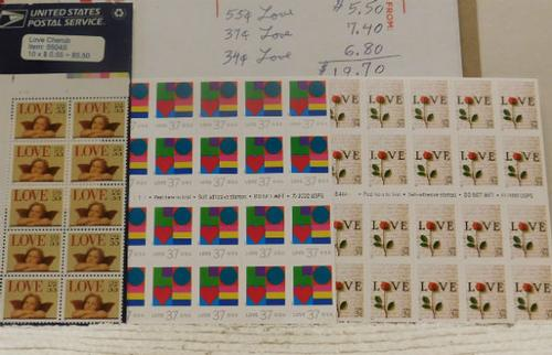love stamps various denominations 20 98 face value