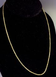 Classic 18 inch 14kt Gold Rope Chain