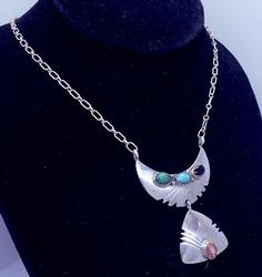 Native American Style Sterling Necklace