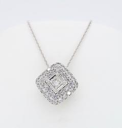 18K White Gold 5/8CTW Diamond Necklace