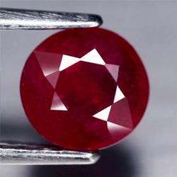 Captivating 1.66ct blood red 6.6mm Ruby solitaire