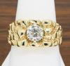 Nugget Style 14K Yellow Gold Diamond Ring