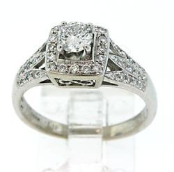 Excellent Multi Diamond Halo Ring