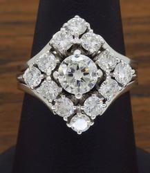 14K White Gold 2.00CTW Diamond Ring
