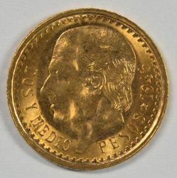 Superb Gem BU 1945 Mexico 2.5 Pesos Gold Piece
