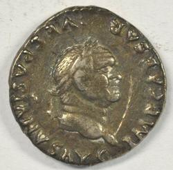 Scarce Vespasian Roman Silver Denarius, 69-79 AD