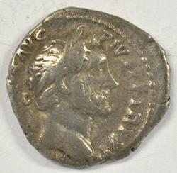 Nice Antoninus Pius Roman Silver Denarius, 138-161 AD