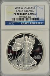 Flawless 2014-W $1 Eagle NGC PF70 Early Releases