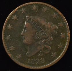 Collectible 1828 (Small Date) Coronet Head Large Cent