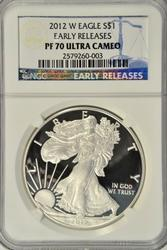 Perfect 2012-W NGC PF70 ULTRA CAMEO $1 Early Releases