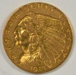 Great-looking 1913 US $2.50 Indian Gold Piece