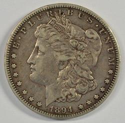 Sharp XF 1894-S Morgan Silver Dollar. Key Date!