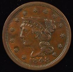 Superb Chocolate Brown AU 1848 Braided Hair Large Cent