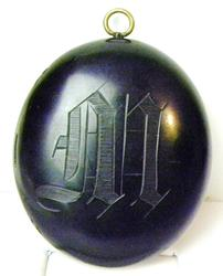 Antique Gutta Percha Large Mourning Locket