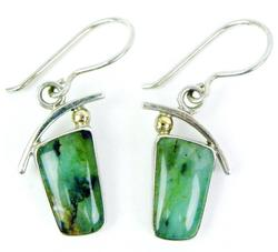 Stunning Sterling Chrysoprase Drop Earrings
