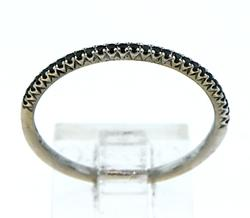 Very Slender Black Diamond Band in 18K
