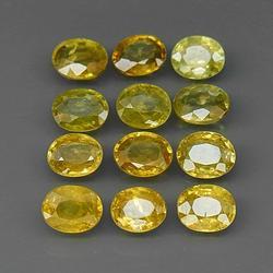 Glittering 4.12ct untreated Sphene set