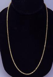 Classic 20 inch Rope Chain in 14kt Gold