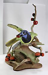 Boehm Porcelain Green Jay Figurine