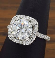 GIA Certified 2.00CTW Diamond Engagement Ring