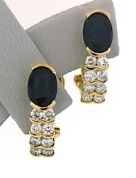Outstanding Sapphire & Diamond Earrings in 18K