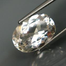Sublime 7.48ct untreated oval cut Topaz