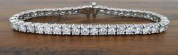 9.00CTW Platinum High Quality Diamond Tennis Bracelet