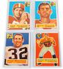 4 Topps 1956 Football Cards