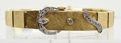 Fabulous Vintage 14K Lidded Watch With Diamonds