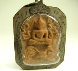 Antique Buddha Rooster Amulet